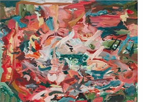 "Cecily Brown, ""Oh I Do Like To Be Beside The Seaside"", 2014, is reproduced from <i>Cecily Brown & Jim Lewis: The English Garden</i>."