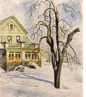 "Featured image is <I>House and Trees in the Snow</I>, reproduced from <a href=""9780982631638.html"">Charles Burchfield: Fifty Years as a Painter</a>."