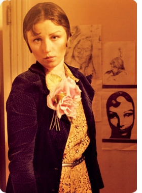 """Featured image, from a color slide of Cindy Sherman as """"Rose Scaleci"""" (1975), is reproduced from <I>Cindy Sherman: The Early Works</I>."""