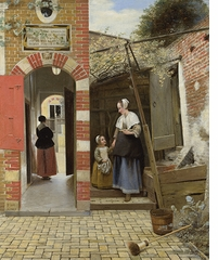 Class Distinctions: Dutch Painting in the Age of Rembrandt and Vermeer, Courtyard of a House in Delft