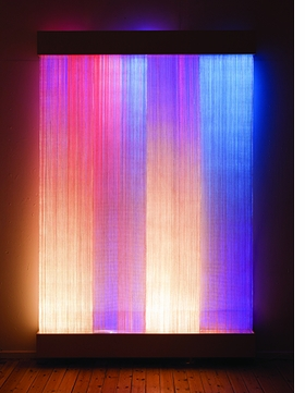 "Astrid Krogh's ""Ikat II"" (2011) is reproduced from <i>Crafted: Objects in Flux</i>."