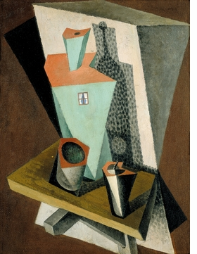 "Diego Rivera, ""Still-life with Green House"" (1917), from ""Cubism and War."""