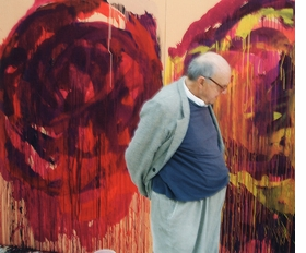 "The celebrated American artist Cy Twombly died, at the age of 83, on Tuesday, July 5, in Rome—where he had lived half the year for the better part of the past four decades. Featured image, of Twombly in his studio in Gaeta, in 2008, is reproduced from <a href=""9781933045887.html"">Cycles and Seasons</a>, published on the occasion of the artist's major traveling retrospective of the same year, originating at Tate."