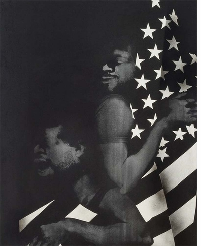 "David Hammons' ""Black First, America Second"" in Soul of a Nation"