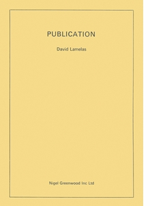 David Lamelas: Publication