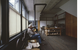 Photo at top: Donald Judd at 101 Spring Street, second floor, Judd Foundation, New York, 1985. Photograph by Doris Lehni Quarella © Antonio Monaci. Reproduced from <I>Donald Judd: Writings</I>.