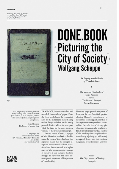 Done.Book: Picturing the City of Society