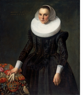 "Frans Pietersz de Grebber, ""Portrait of a 25-Year-Old Woman"" (1632), reproduced from 'Dutch Old Masters from Budapest.'"