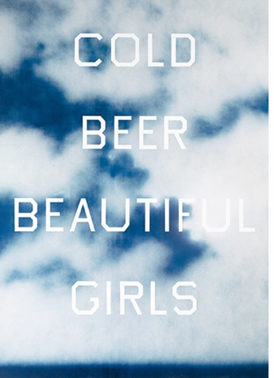 "Ed Ruscha: ""Cold Beer Beautiful Girls,"" (1993)"