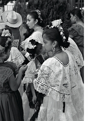 """Ed Templeton: """"Girls in Traditional Mexican Dresses, Olvera Street"""" (2004)"""