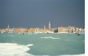 """Storm, Venice, Italy, 1980"" is reproduced from 'Eric Boman: A Wandering Eye.'"
