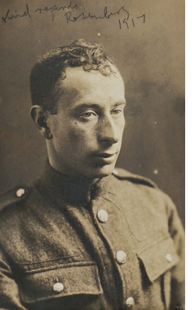 Featured portrait, of Isaac Rosenberg by London Art Studios (1917), is reproduced from <I>First World War Poets</I>.
