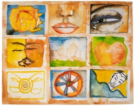 "Featured image, a watercolor by Francesco Clemente, is reproduced from <a href=""http://www.artbook.com/9788881588091.html"">Francesco Clemente: Made in India</a>."