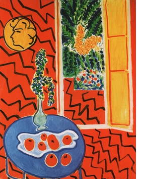 "Featured image, Matisse's ""Red Interior, Still Life on a Blue Table"" (1947), is reproduced from <I>Fresh Widow: The Window in Art since Matisse and Duchamp.</I>"