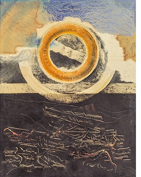 "Max Ernst, ""La roue du soleil (Grand marine)"", 1926, is reproduced from <i>Future Present</i>."