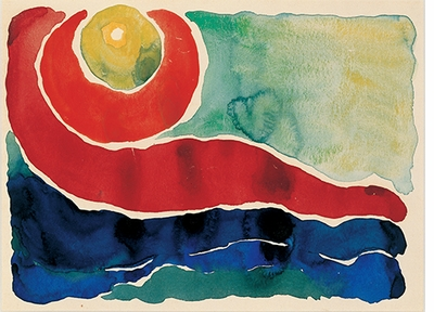 Georgia O'Keeffe: Watercolors, Evening Star