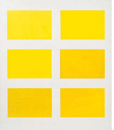 Gerhard Richter: Colour Charts, Six Yellows