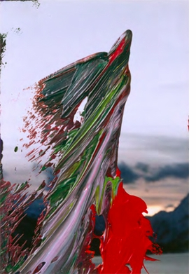 """15. FEB. 05"" is reproduced from 'Gerhard Richter: The Overpainted Photographs, A Comprehensive Catalogue.'"