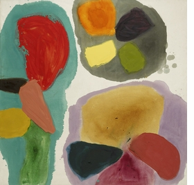 """Lure"" (1963) is reproduced from 'Gillian Ayres.'"