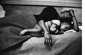 This 1967 photograph by Gordon Parks, shot for <I>Life</I> magazine, is reproduced from <I>Gordon Parks: A Harlem Family</I>.