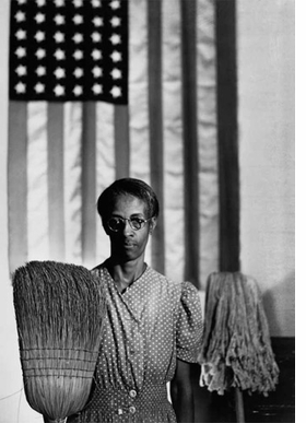 """American Gothic, Washington, D.C."" (1942) is reproduced from <I>Gordon Parks: Collected Works</I>."