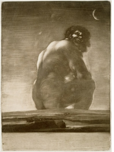 "Goya: ""Seated Giant"" (ca.1818)"