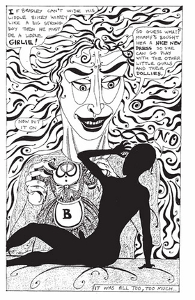 Featured image is reproduced from <I>Grayson Perry: Cycle of Violence</I>.