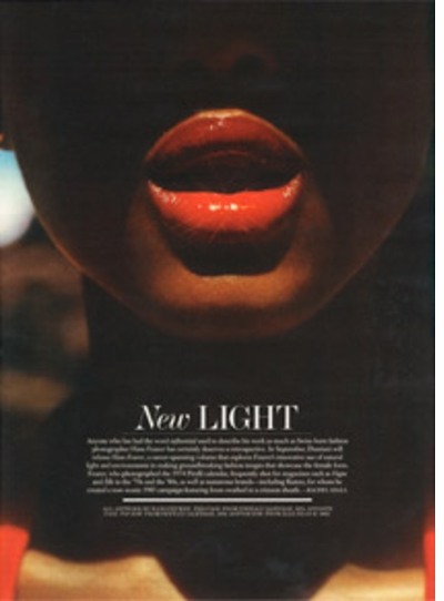'Hans Feurer' Previewed in Interview Magazine