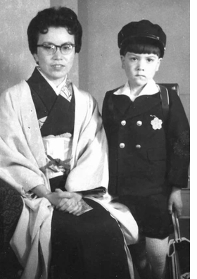 Featured image, of Kaoru Morioka with his mother, Setsuko, on the first day of elementary school circa 1957 in Kyoto, Japan, is reproduced from 'Hapa Japan: History.'