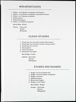 Helmut Volter: Cloud Studies
