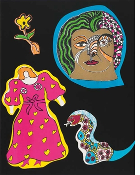 Featured image is reproduced from 'I'm a Fighter: Images of Women by Niki de Saint Phalle.'