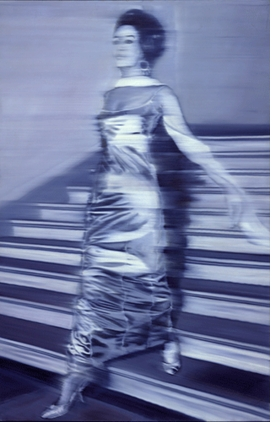 """Woman Descending the Staircase (Frau die Treppe herabgehend)"" (1965), by Gerhard Richter, is reproduced from <I>International Pop.</I>"