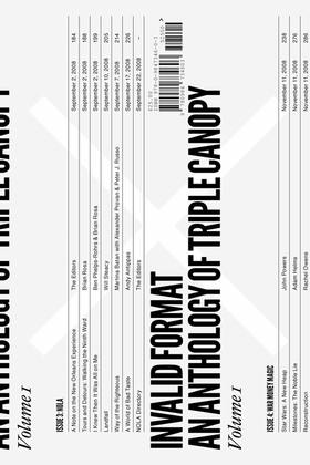 Invalid Format: An Anthology of Triple Canopy