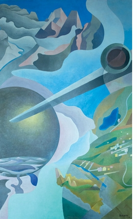 "Featured image, Benedetta's ""Synthesis of Aerial Communications"" (1933-34), is reproduced from <I>Italian Futurism, 1909-1944: Reconstructing the Universe</I>."