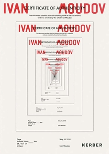 Ivan Moudov: Certificate of Authenticity