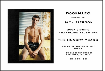 Jack Pierson to launch 'The Hungry Years' at BOOKMARC, NYC