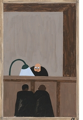 "Jacob Lawrence: The Migration Series, Panel 14 (""injustice in the courts""), 1941"