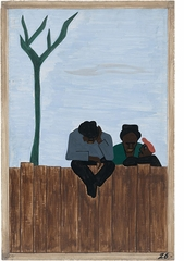 "Jacob Lawrence: The Migration Series, panel 26, ""And people all over the South began to discuss this great movement"""