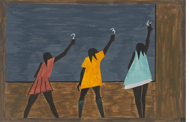 Jacob Lawrence: The Migration Series, Panel 58 (Girls), 1940-41