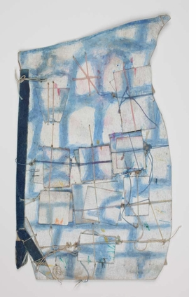 "Featured image is James Castle's untitled, undated construction of a vase made from found paper, cardboard, and string, with color applied with wads of paper, reproduced from <a href=""http://www.artbook.com/9781935202707.html"">James Castle: Show and Store</a>."