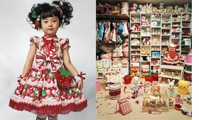 """Kaya is four years old. She lives with her parents in a small apartment in Tokyo, Japan. Most apartments in Japan are small because land is very expensive to buy and there is such a large population to accommodate. Kaya's bedroom is every little girl's dream. It is lined from floor to ceiling with clothes and dolls. Kaya's mother makes all Kaya's dresses--up to three a month, usually. Now Kaya has thirty dresses and coats, thirty pairs of shoes, sandals and boots, and numerous wigs. (The pigtails in the featured image, reproduced from <a href=""9781905712168.html"">James Mollison: Where Children Sleep</a>, are made from hairpieces.) Her friends love to come round to try on her clothes. When she goes to school, however, she has to wear a school uniform. Her favorite foods are meat, potatoes, strawberries and peaches. She wants to be a cartoonist when she grows up, drawing Japanese 'anime' cartoons."""