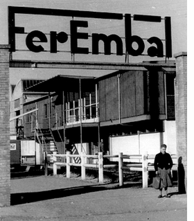 Featured image is of the entrance to the Ferembal factory, ca. 1955. It is featured in <I>Jean Prouvé & Jean Nouvel: Ferembal House</I>.