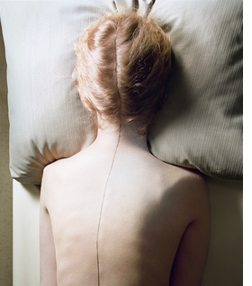 """Woman with Black Line"" (1976-77) is reproduced from <I>Jo Ann Callis: Other Rooms</I>."