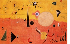"Featured image, Joan Miró's <i>Catalan Landscape (The Hunter)</i>, 1923-1924, is reproduced from <a href=""9788434310230.html"">Joan Miró</a>."