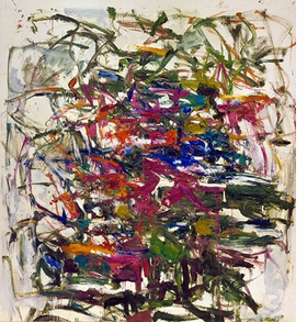 """Cercando un Ago,"" 1957, is reproduced from <I>Joan Mitchell: Retrospective</I>."
