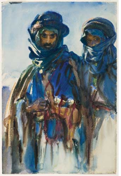 John Singer Sargent Bedouins Watercolor