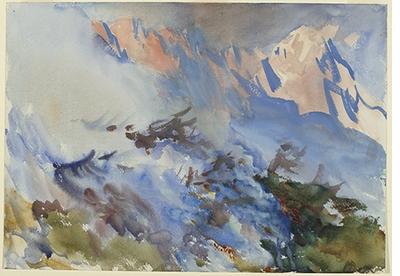 John Singer Sargent: Watercolors, Mountain Fire