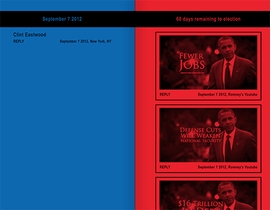 Featured image is a spread reproduced from <i> Jonathan Horowitz: Your Land, My Land: Election '12</i>.