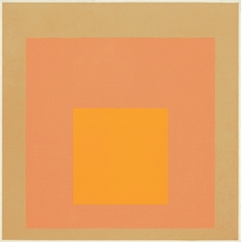 """Homage to the Square"" (1971) is reproduced from 'Josef Albers: Midnight and Noon."""