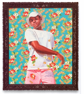 "Featured image is reproduced from <a href=""9783868590692.html"">Kehinde Wiley: The World Stage, Brazil</a>, in which essayist Kimberly Cleveland writes, ""Wiley goes beyond merely depicting some of Rio's African-descendent men. He transforms these black Brazilians into works of art, symbolically turning them into subjects reflective of the country's past and present."""